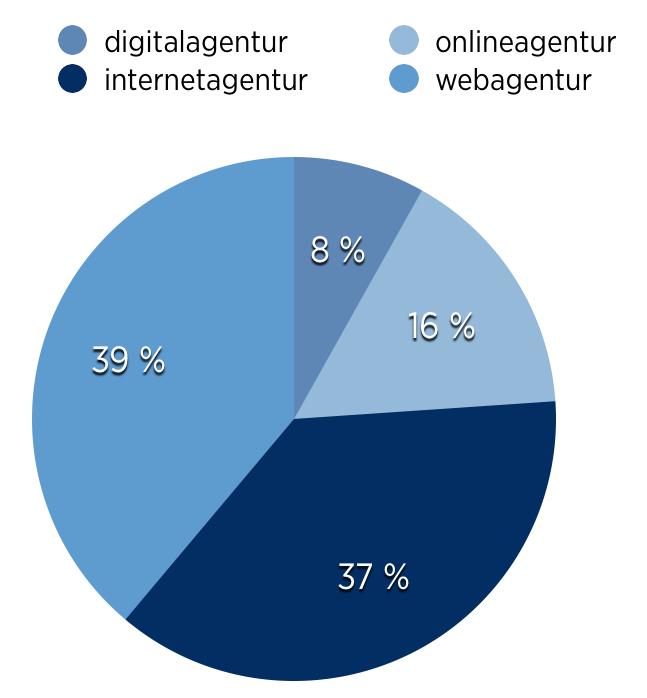 Internetagenturen als Begriff im Vergleich